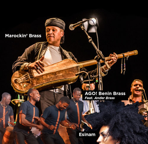 AGO! Benin Brass, ESINAM & Marockin' Brass op Brussels Jazz Weekend