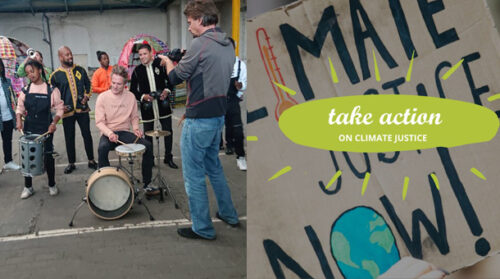 Making some noise and a video clip for global climate action